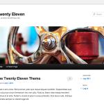 tema TwentyEleven per l'anno 2011