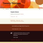 tema TwentyThirteen per l'anno 2013