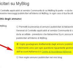 MyBlog e la pubblicità